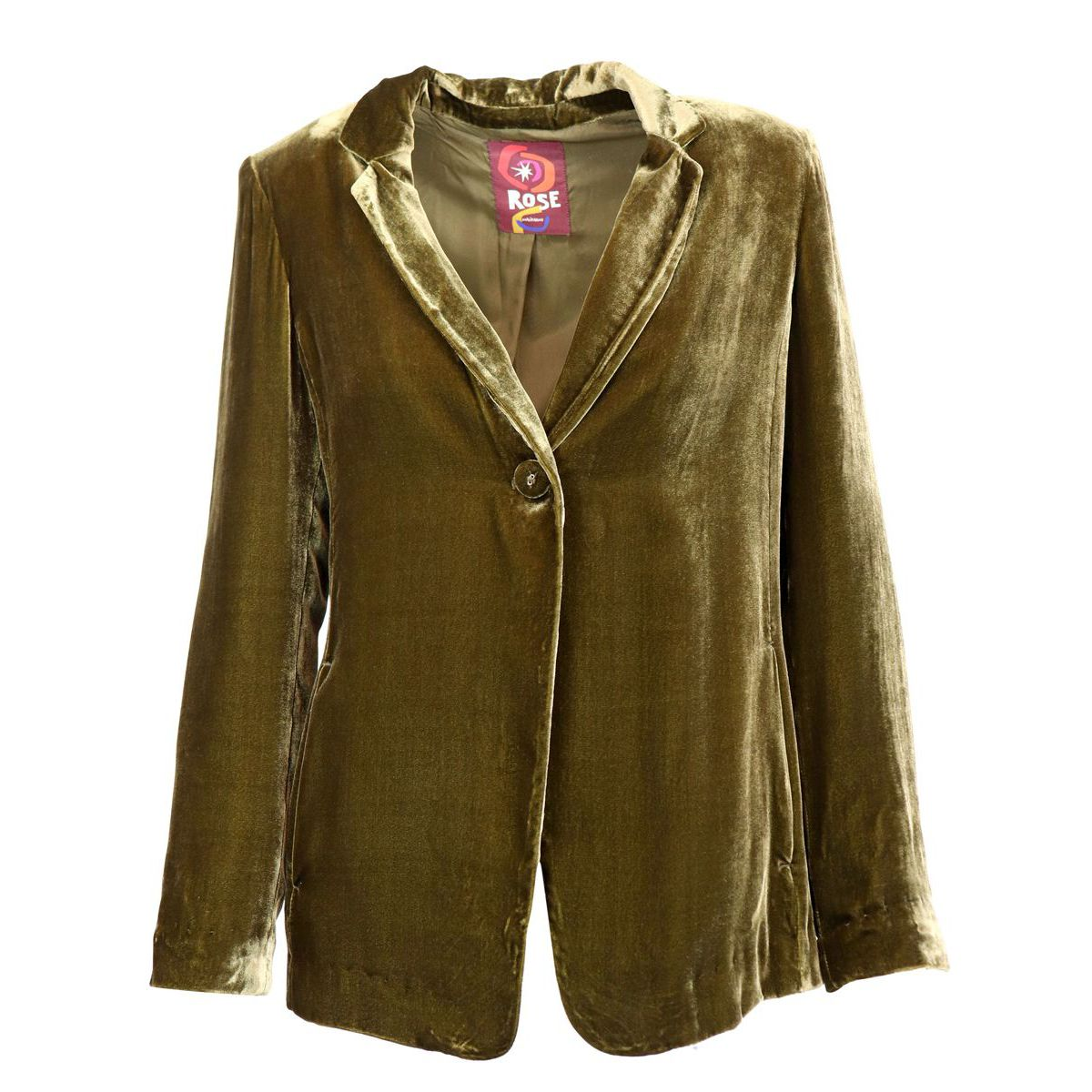 FLUID VELVET viscose and silk jacket Kaki Maliparmi
