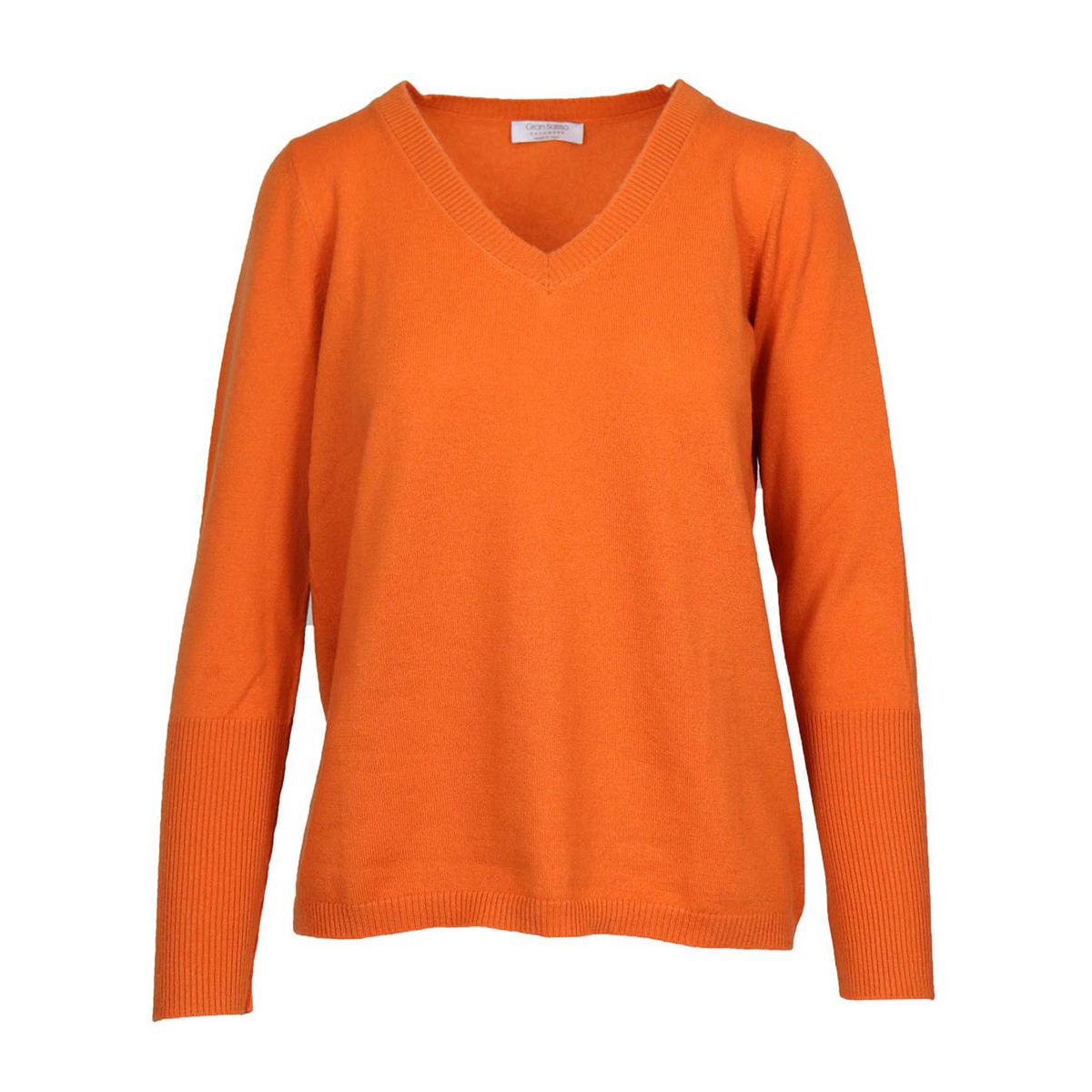 Basic shaved cashmere pullover Orange Gran Sasso