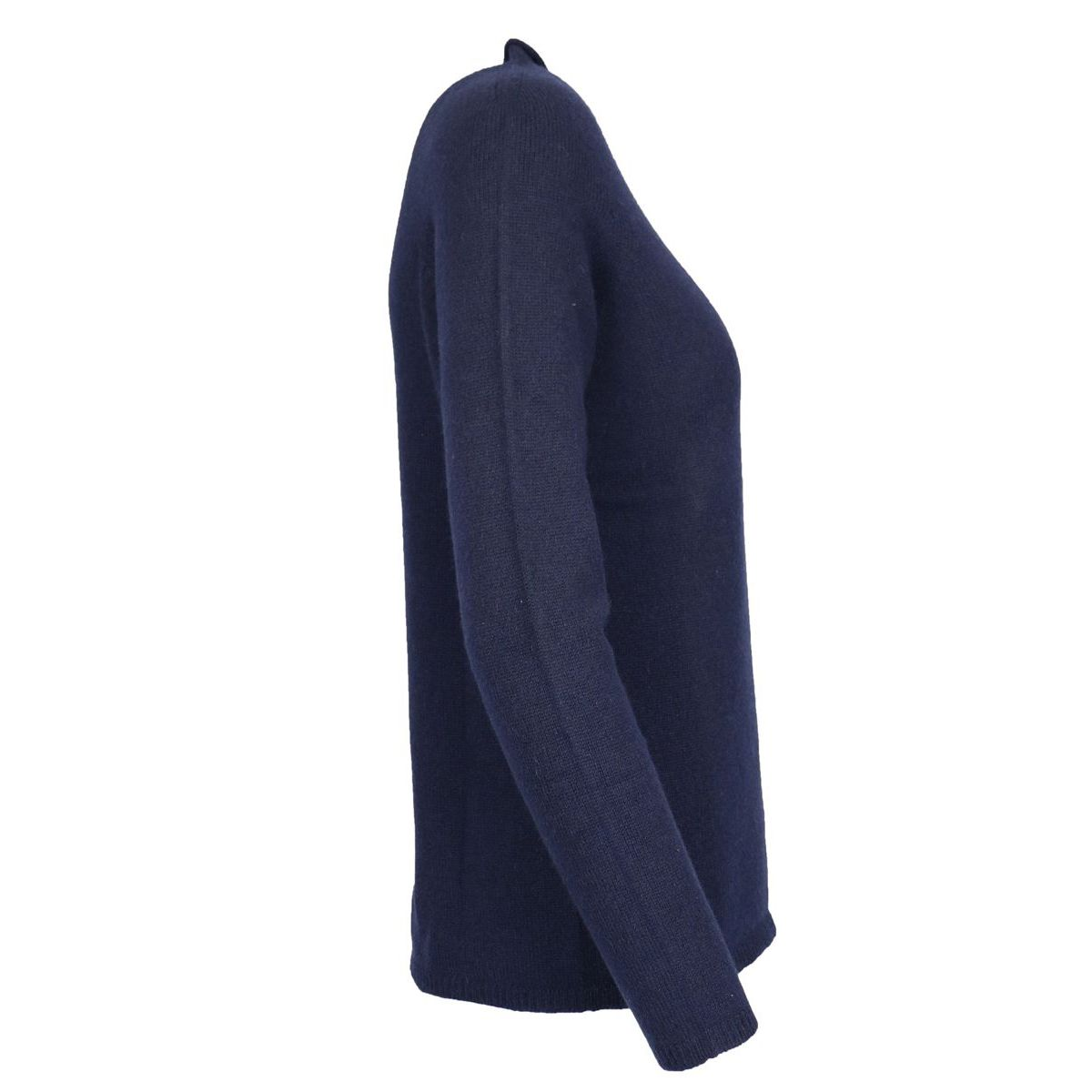 Cashmere sweater with straight neck Navy Gran Sasso