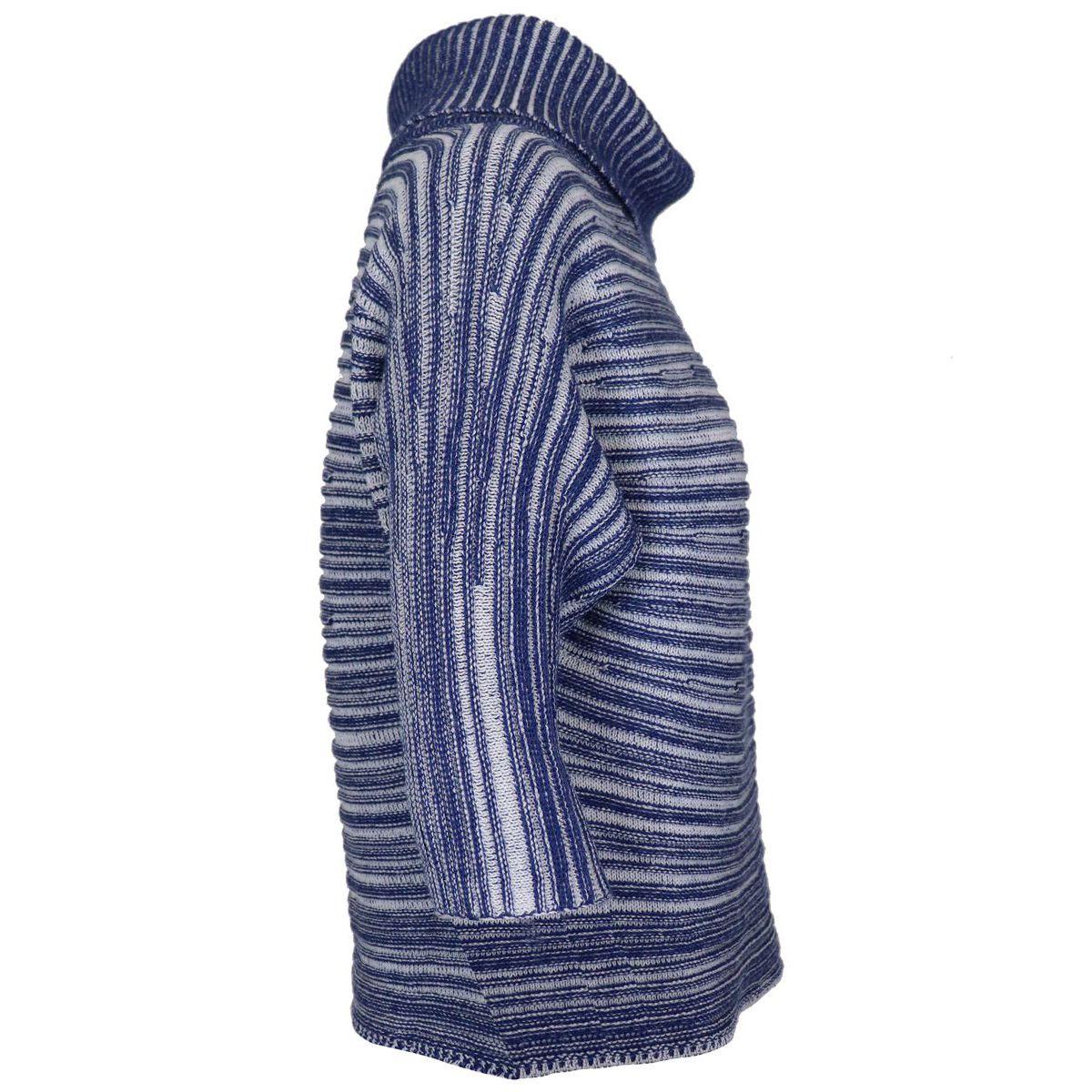 Three-quarter sleeve sweater in virgin wool Light blue Gran Sasso