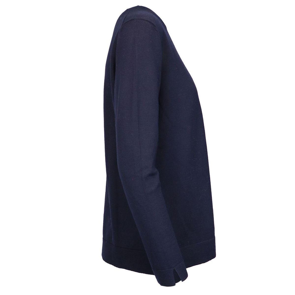 Wool crewneck sweater with zip Blue Gran Sasso