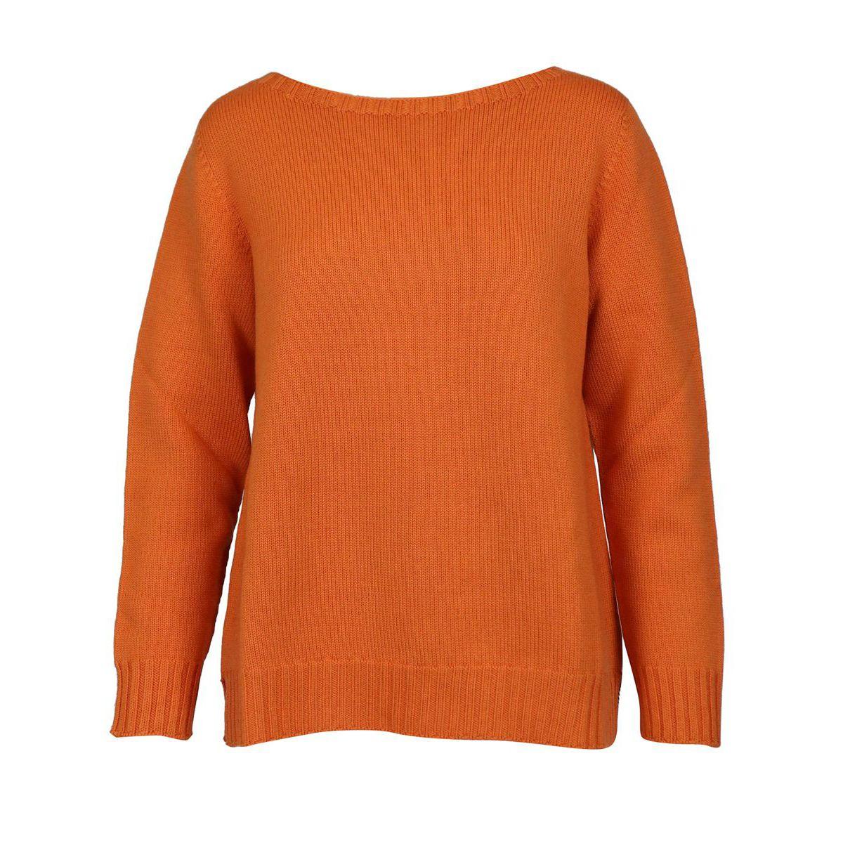 Sweater in shaved marinara virgin wool Orange Gran Sasso