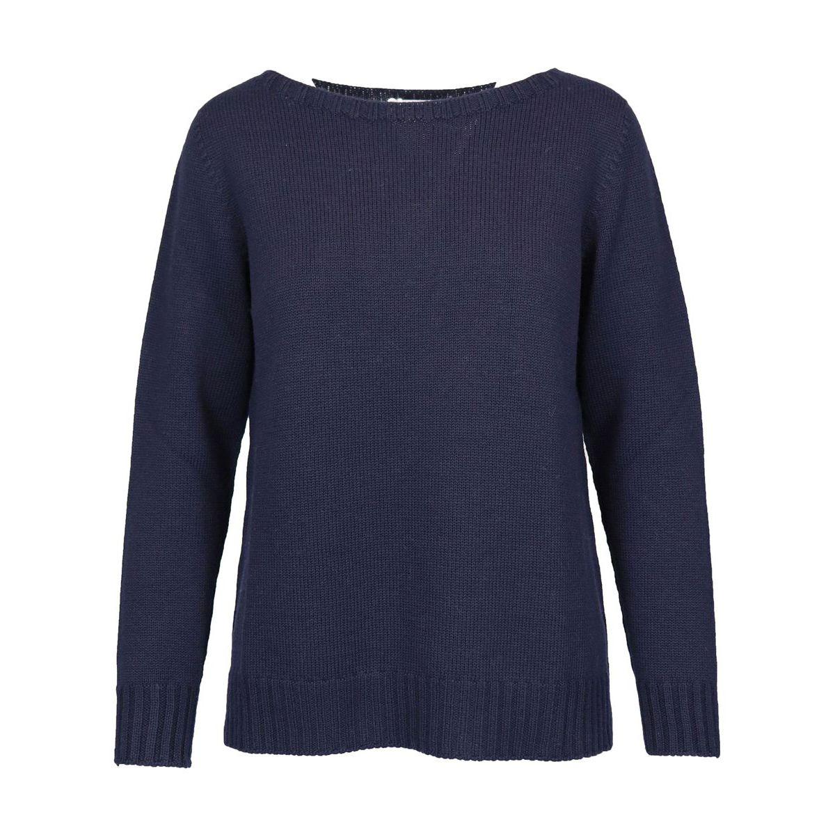 Sweater in shaved marinara virgin wool Navy Gran Sasso