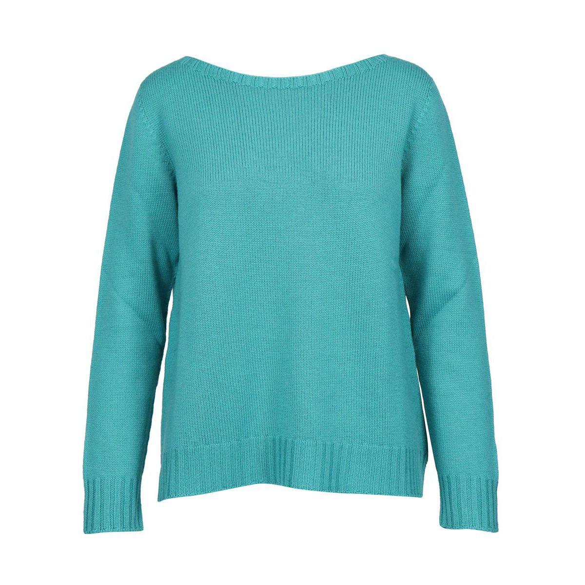 Sweater in shaved marinara virgin wool Green water Gran Sasso