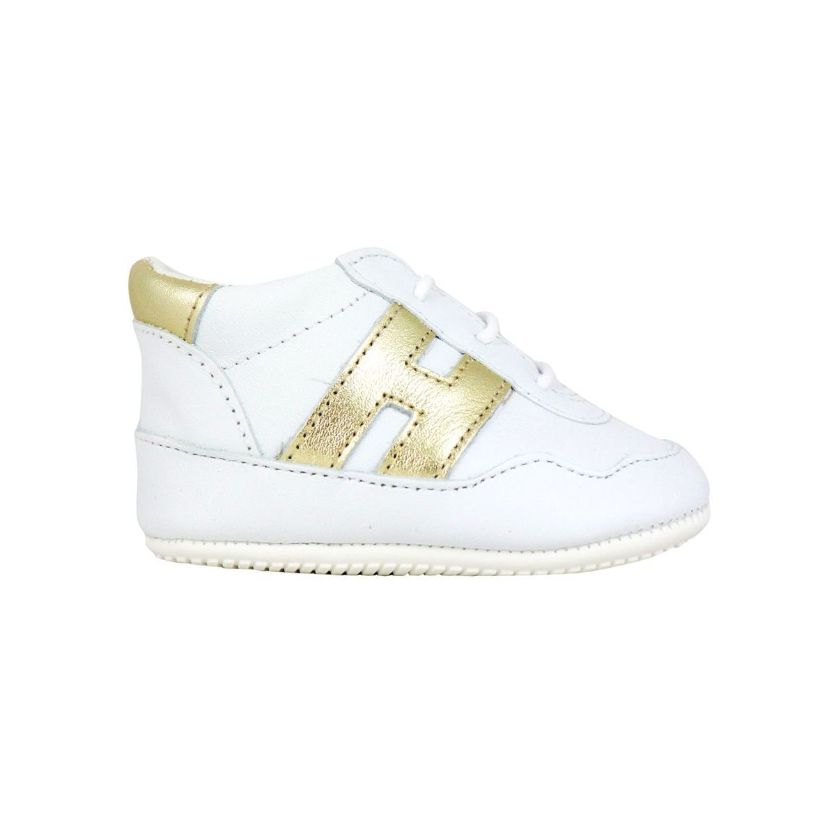 Olympia sneakers in leather with contrasting H B.co/oro Hogan
