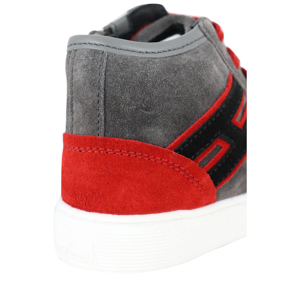 FONDO 340 HI TOP high sneakers Gray-red Hogan