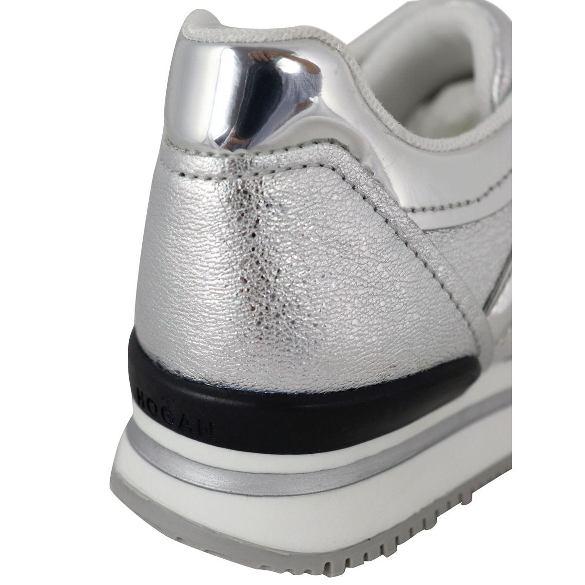222 bottom sneakers with big H Silver Hogan