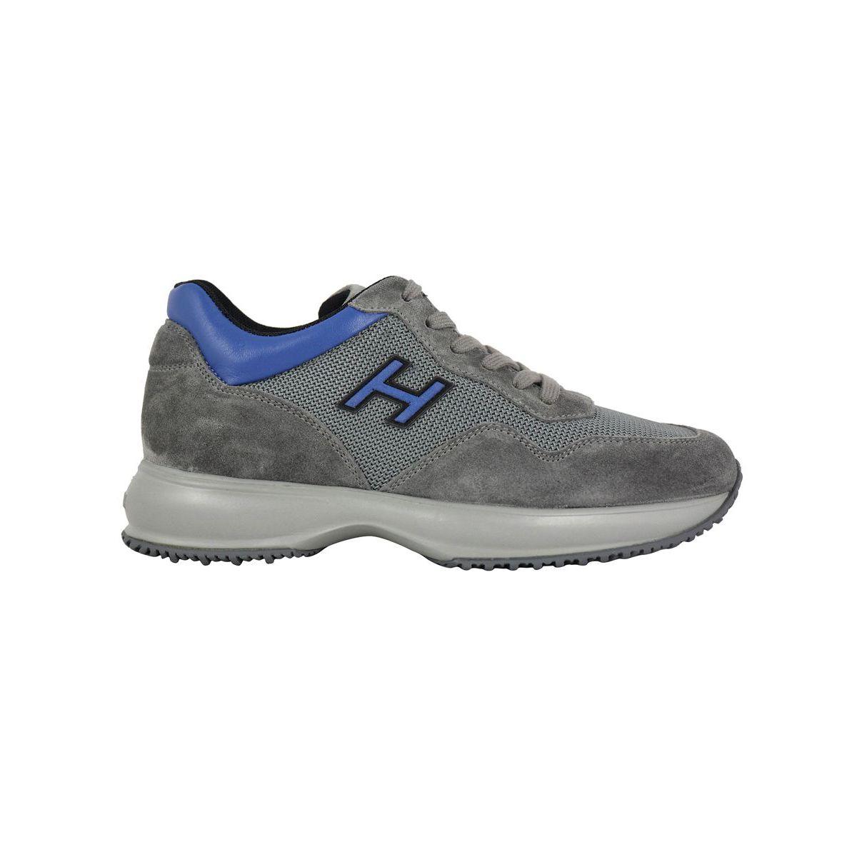 INTERACTIVE H contrast sneakers Grey Hogan