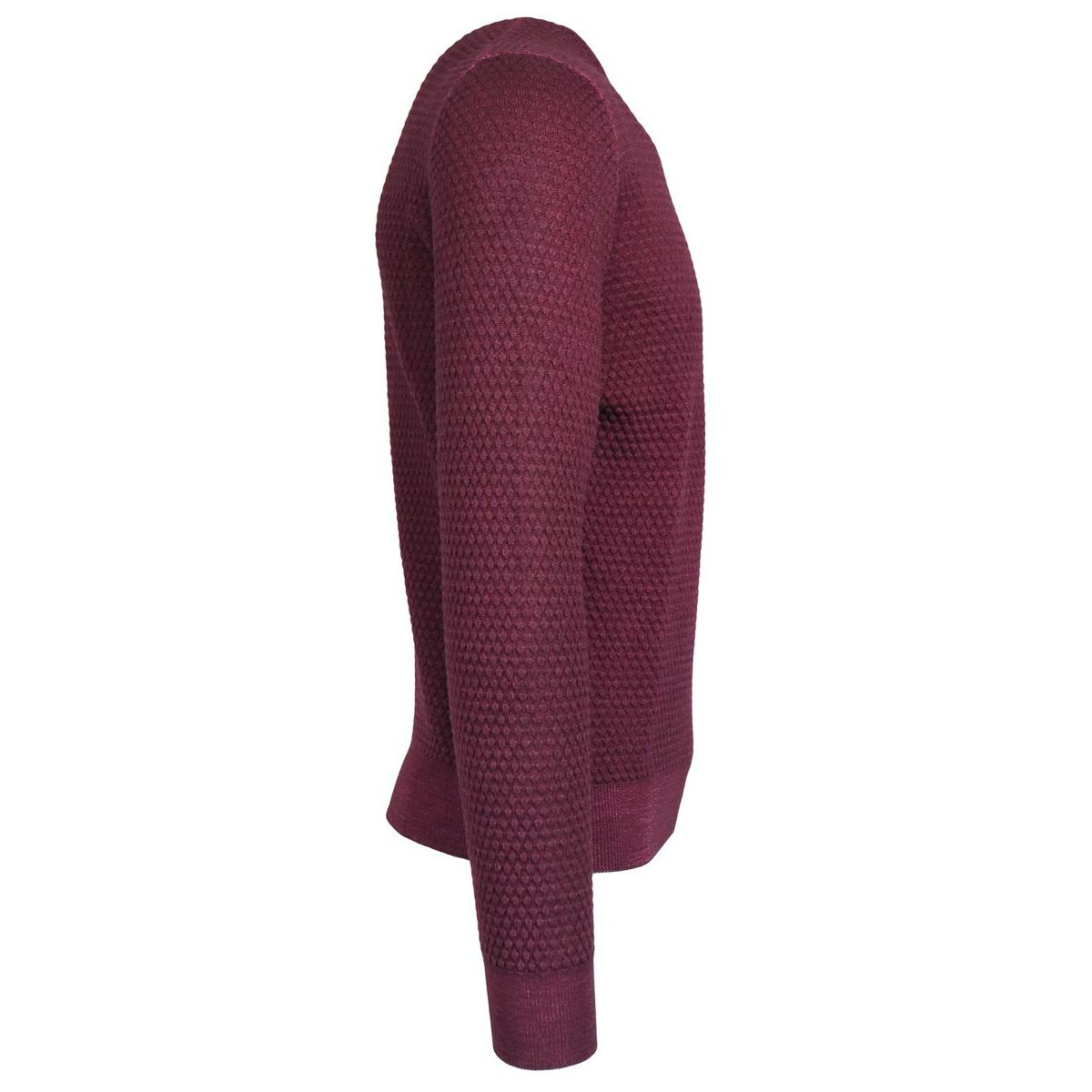Crewneck pure wool pullover Bordeaux Gran Sasso