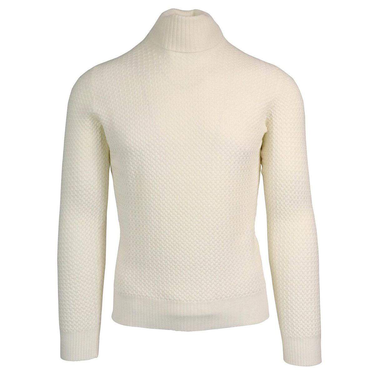 Cycling jersey in pure textured wool White Gran Sasso