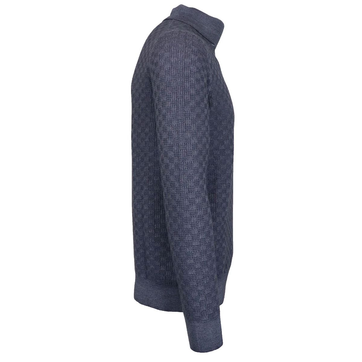 Cyclist in wool with ribbed profiles Grey Gran Sasso