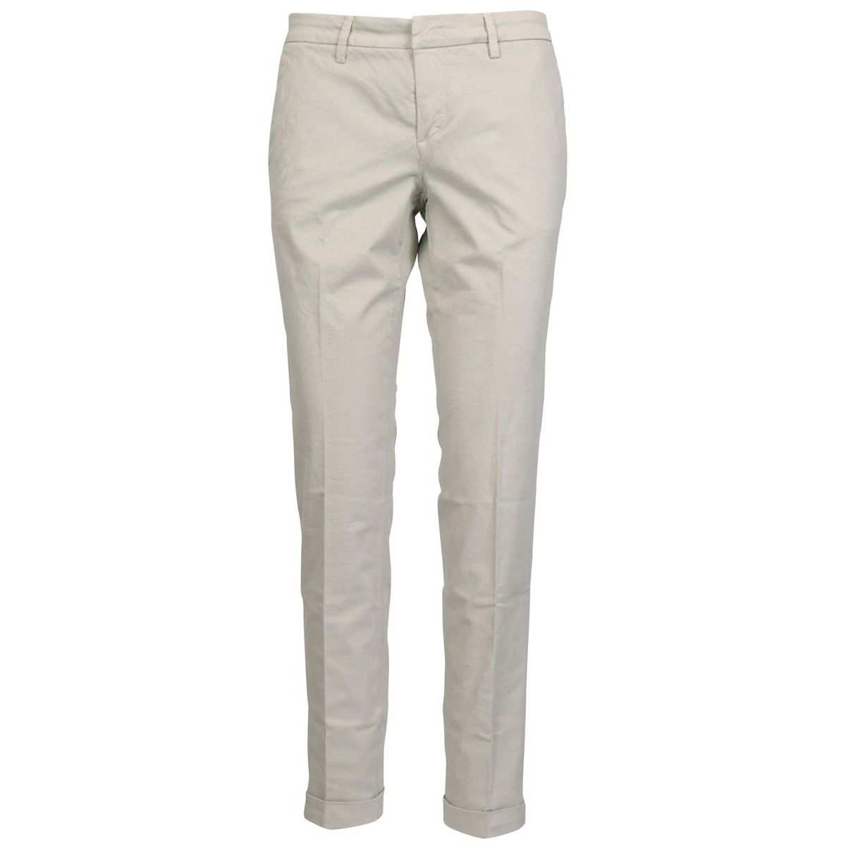 Stretch cotton chinos trousers Beige Fay