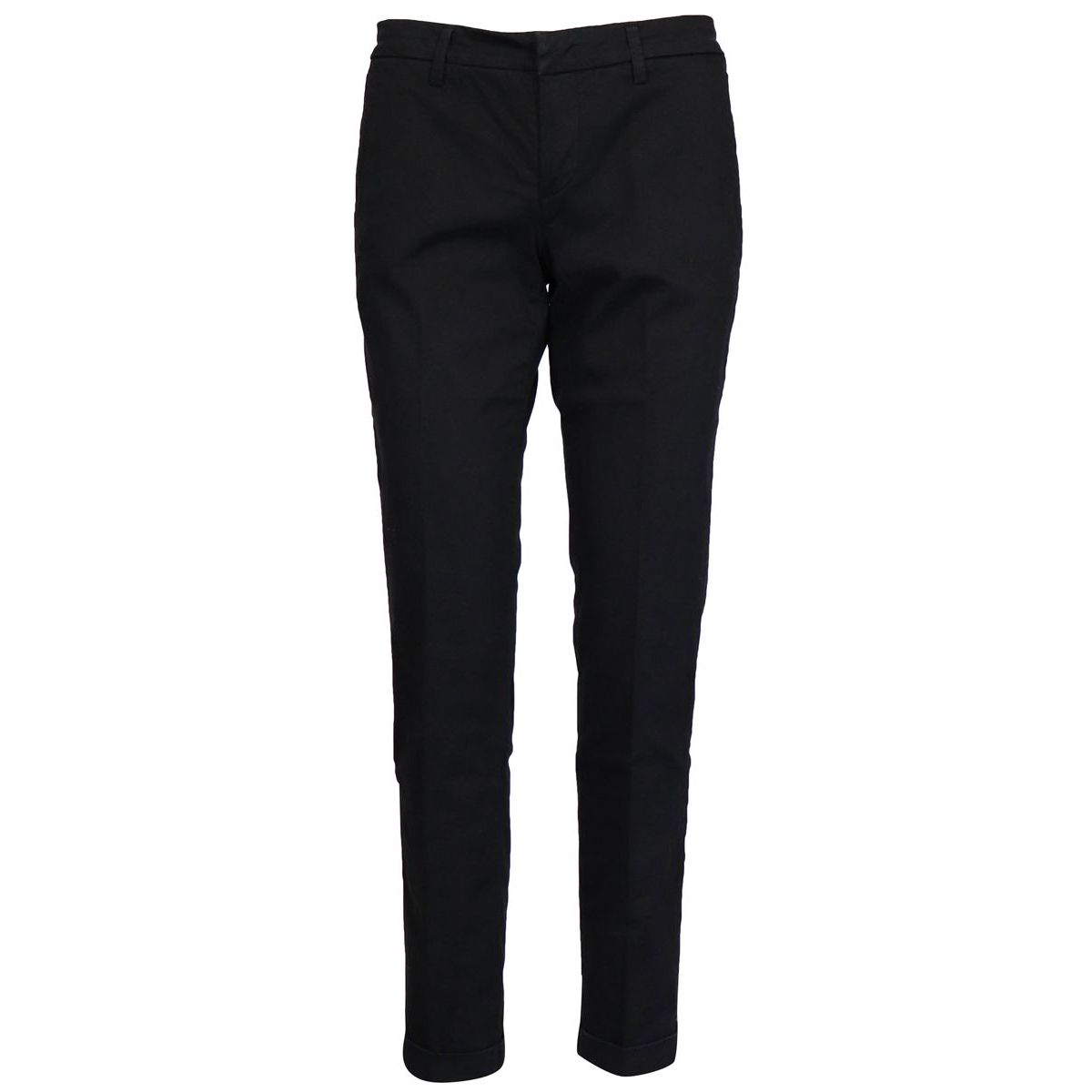 Stretch cotton chinos trousers Black Fay
