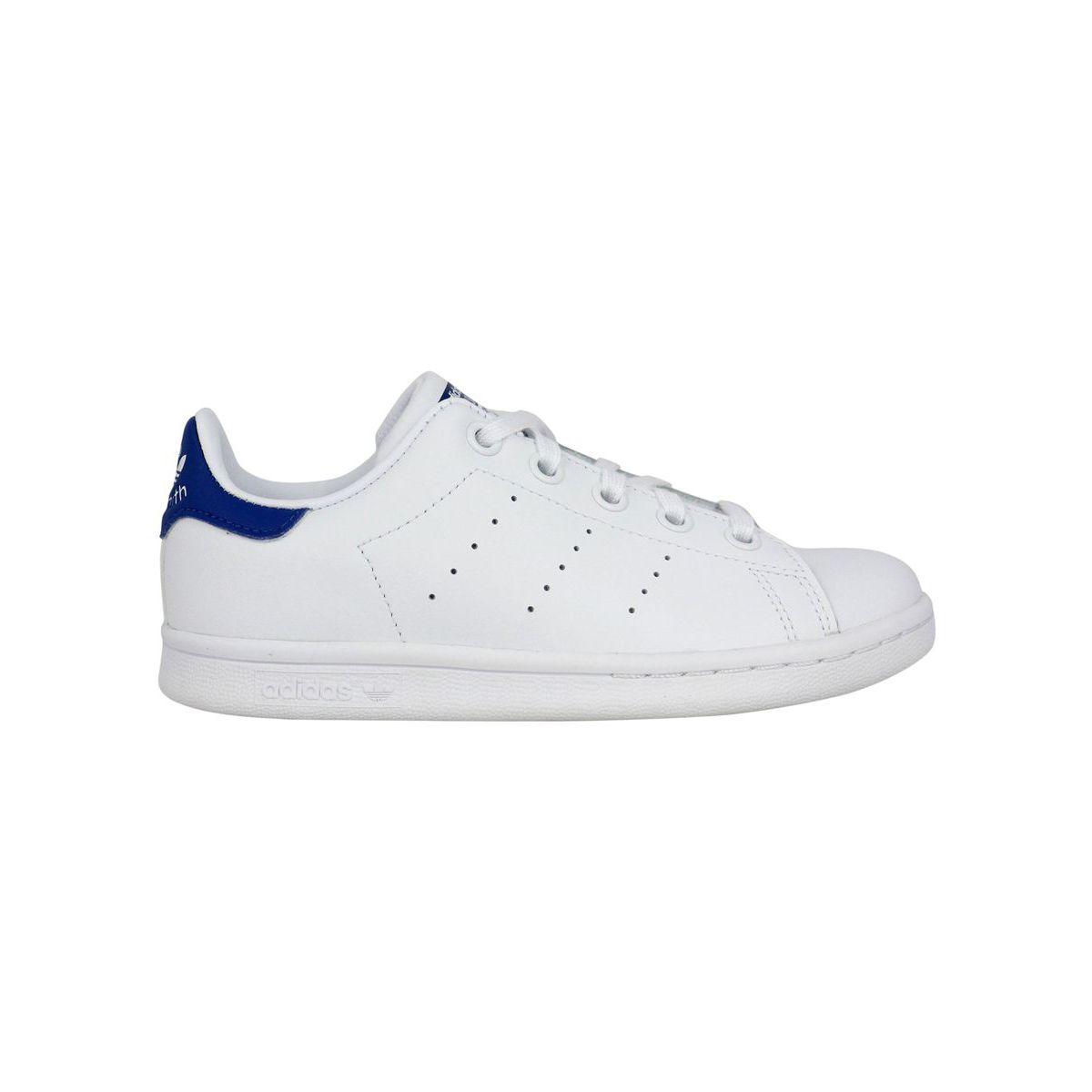 Sneakers Stan Smith C in pelle con tallone a contrasto