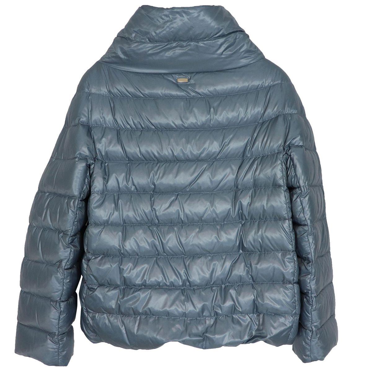 High collar ring down jacket Light blue powder Herno