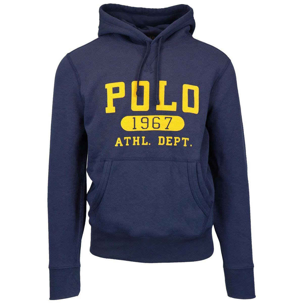 Cotton blend hooded sweatshirt Navy Polo Ralph Lauren
