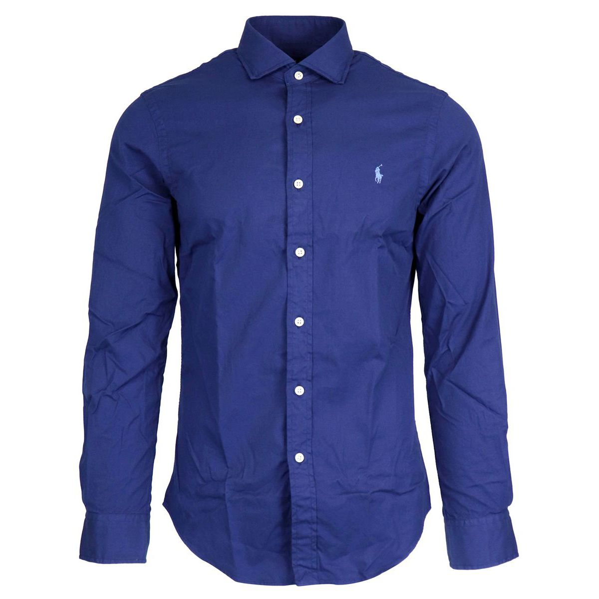 Slim cotton shirt with French collar Sapphire Polo Ralph Lauren