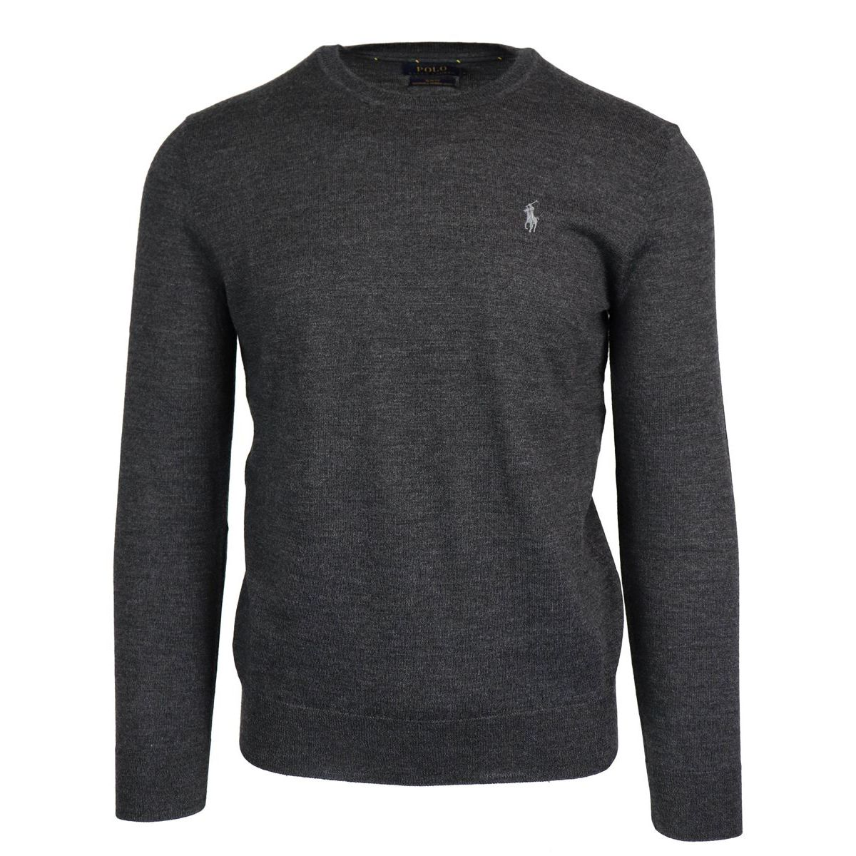 the latest 15b21 8337d Wool crewneck pullover with logo embroidery