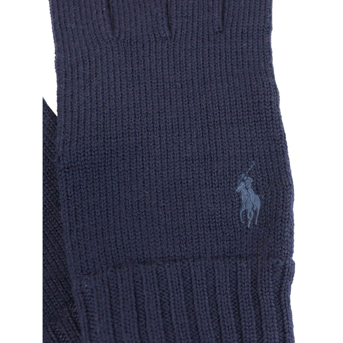 Wool gloves with logo embroidery Navy Polo Ralph Lauren