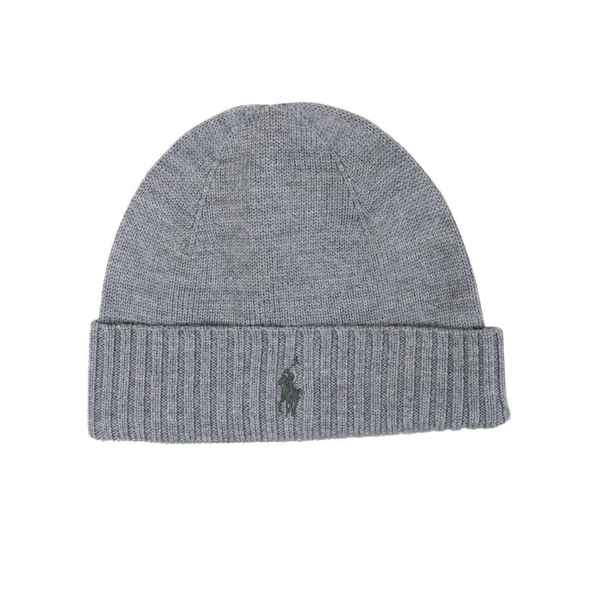 stile squisito acquista autentico molti stili Cappello in lana con risvolto a coste e logo