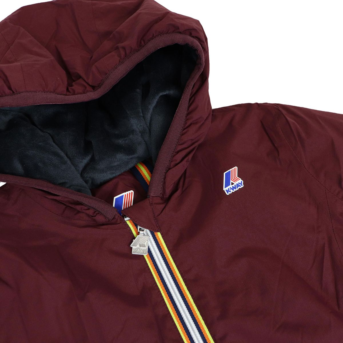 LILY MICRO RIPSTOP jacket with marmot effect inside Bordeaux K-Way