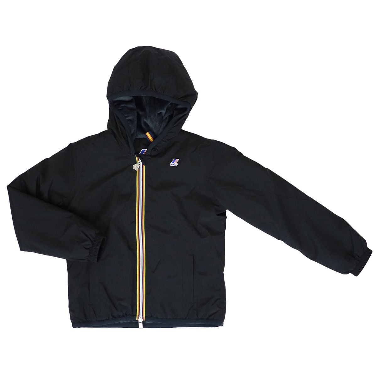 LILY MICRO RIPSTOP jacket with marmot effect inside Black K-Way