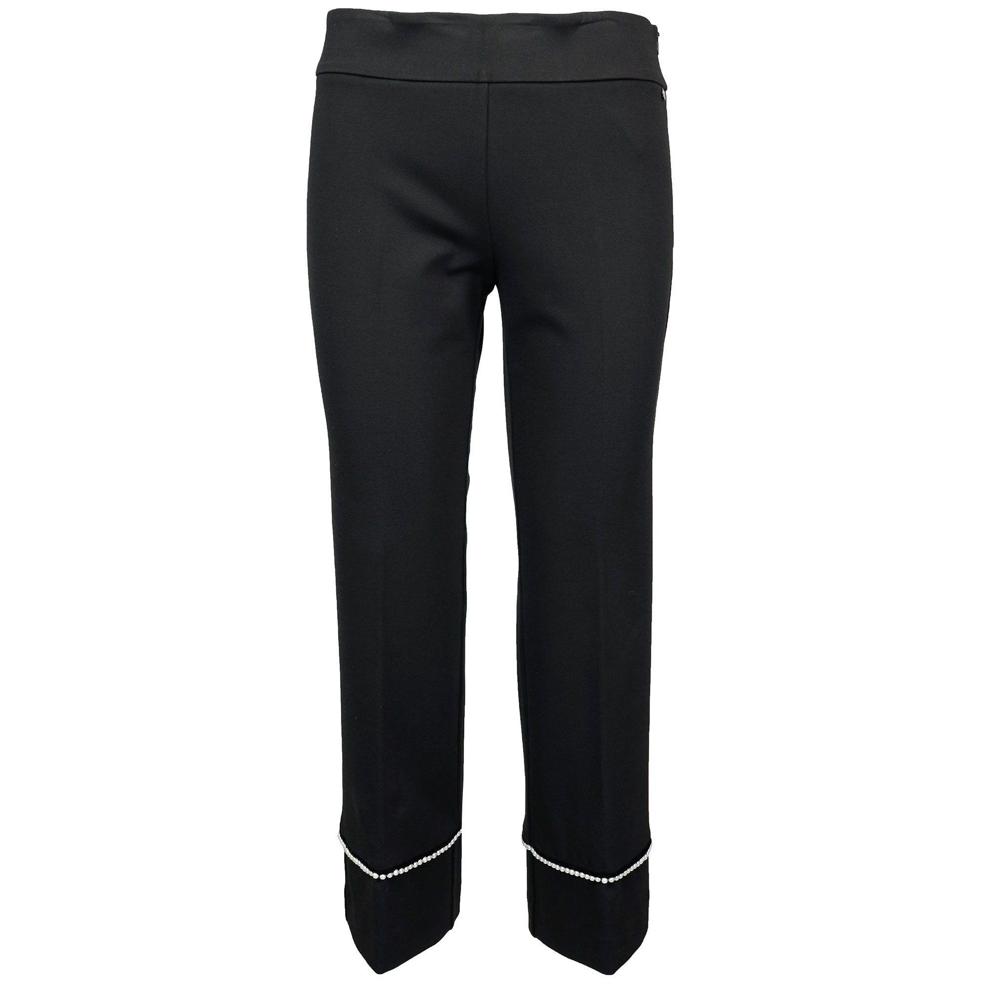 JEANS pantaloni slim stretch straight jeans a sigaretta STRASS 36 40