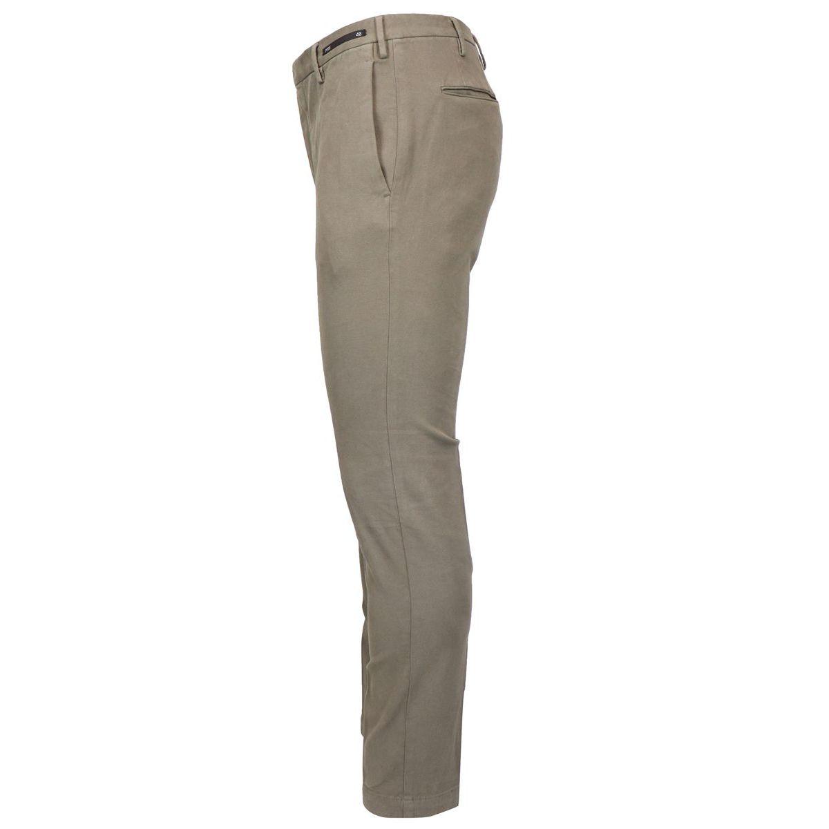 Solid color cotton skinny pants Mud PT01