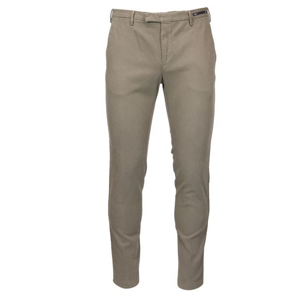Solid color cotton skinny pants Mud PT01