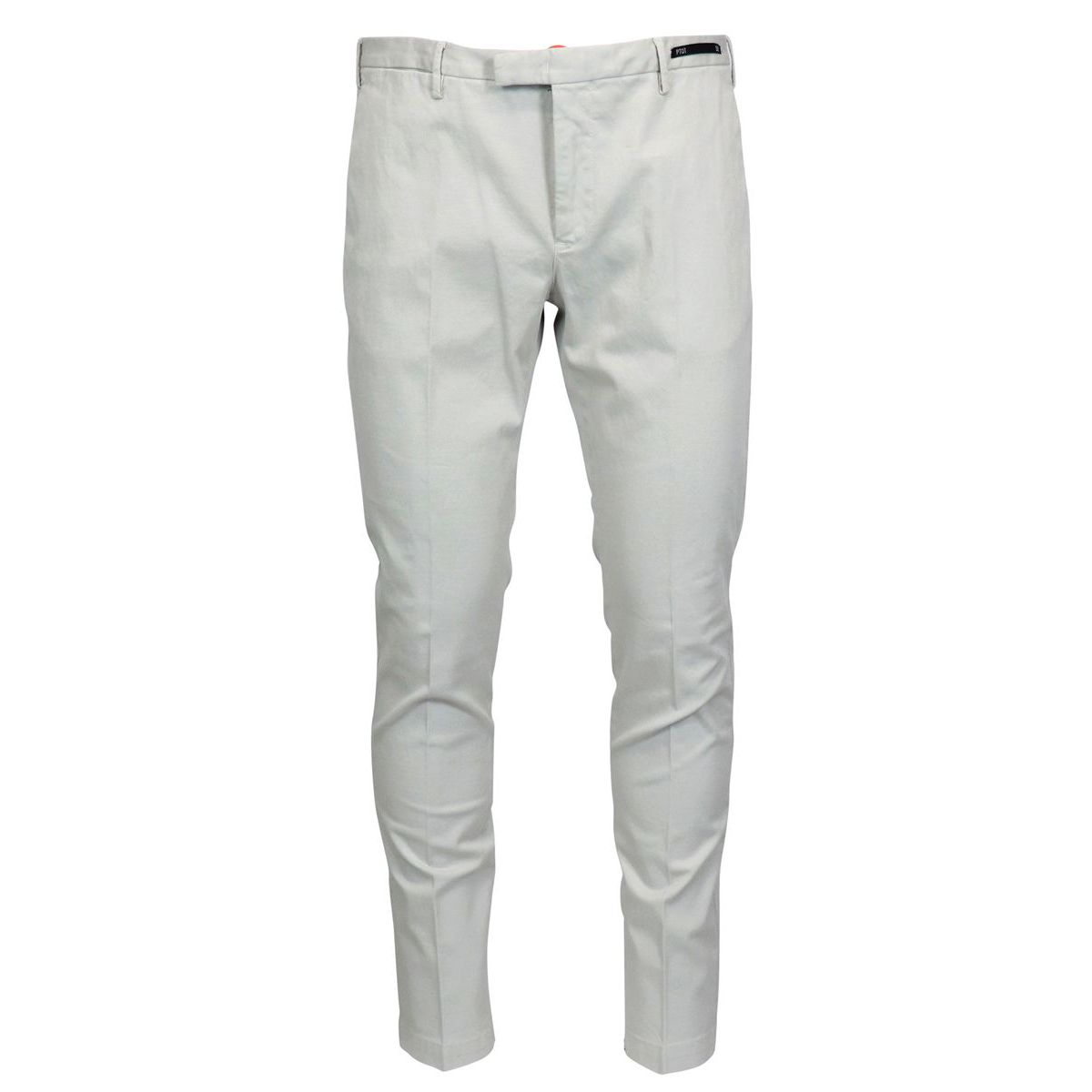 Solid color cotton skinny pants Light grey PT01