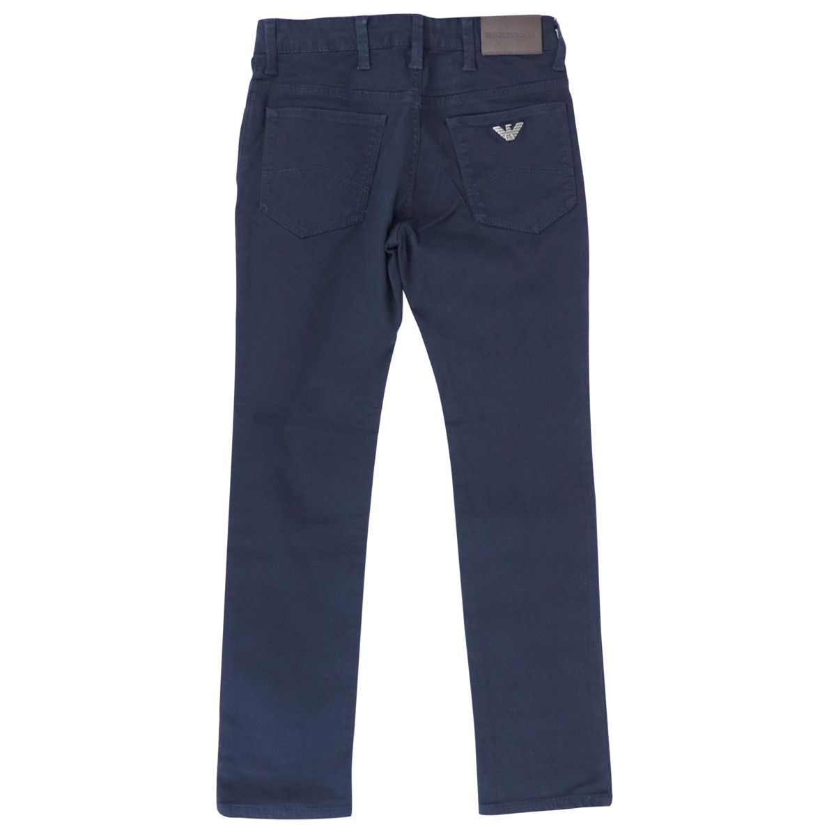 5-pocket slim stretch cotton trousers Blue Emporio Armani