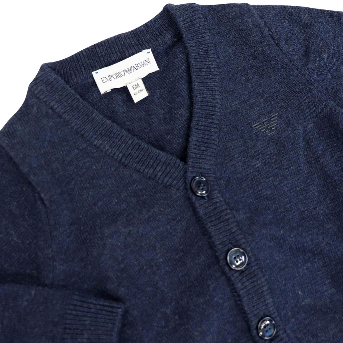 Cashmere blend cardigan with buttons Blue Emporio Armani