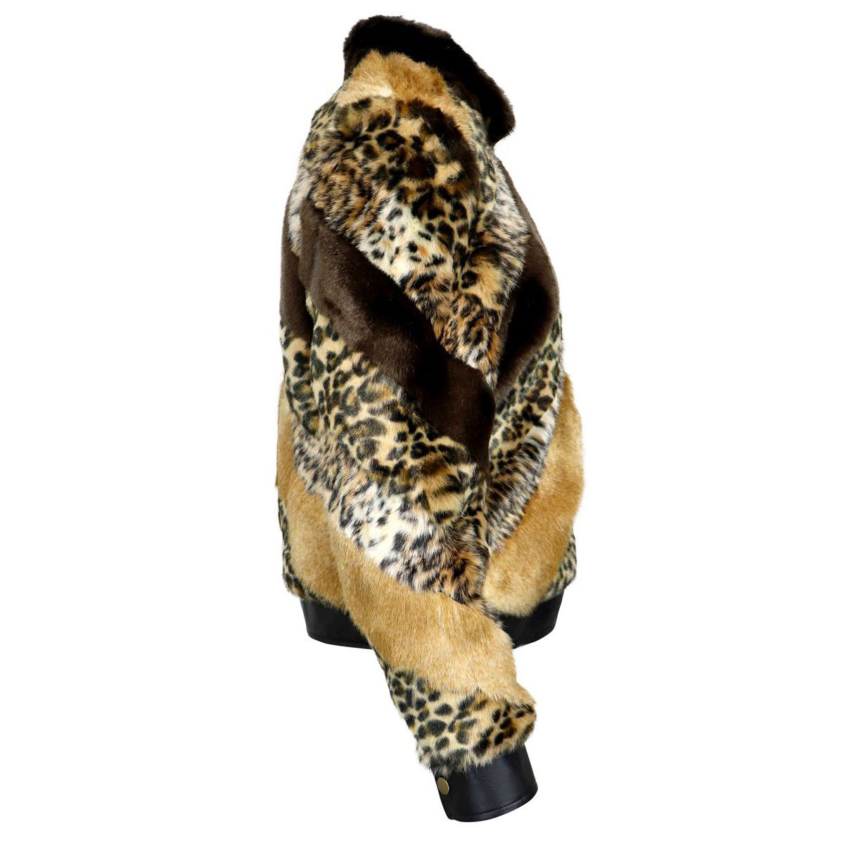 Ecological spotted fur with eco-leather inserts Spotted Twin-Set