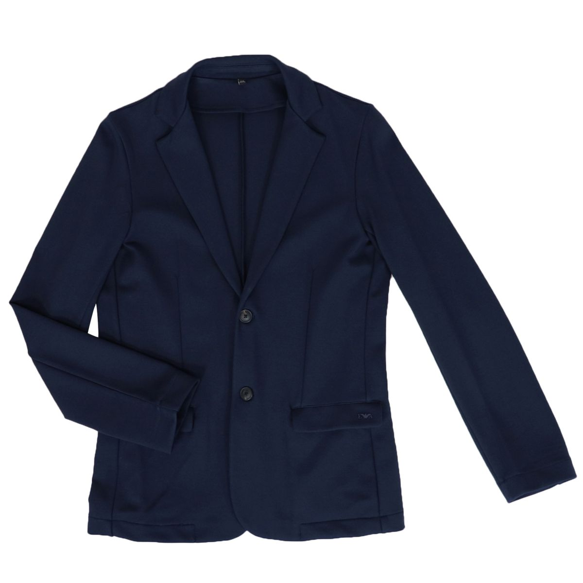 Slim two-button viscose jacket Blue Emporio Armani
