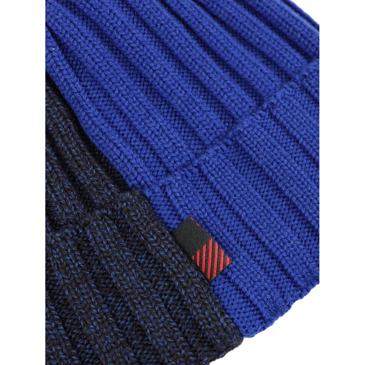 Ribbed bicolor wool hat Blue Woolrich