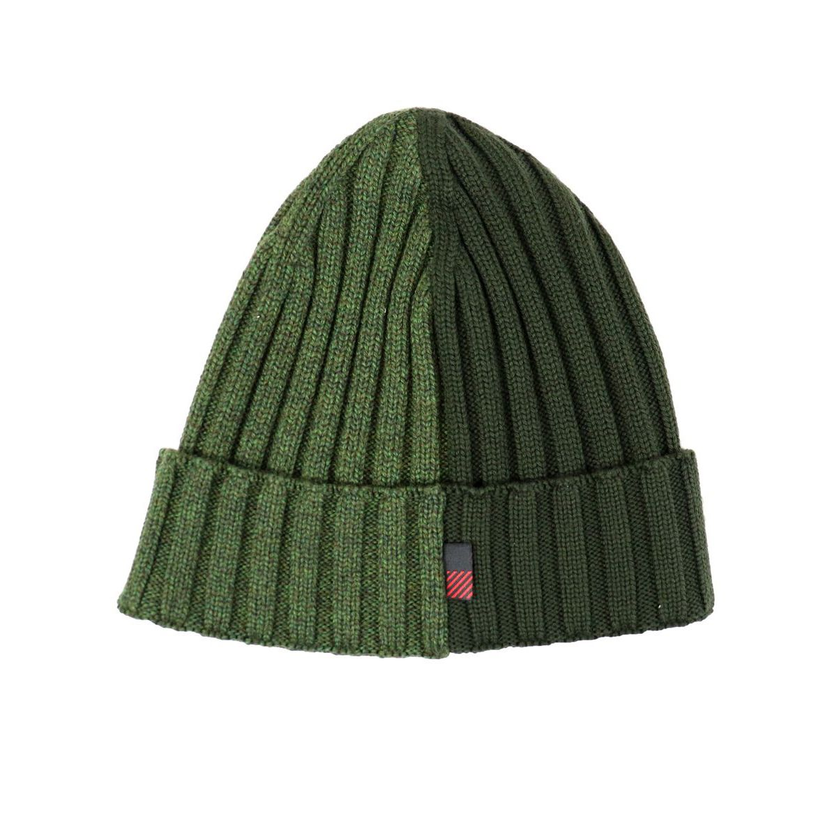 Ribbed bicolor wool hat Green Woolrich