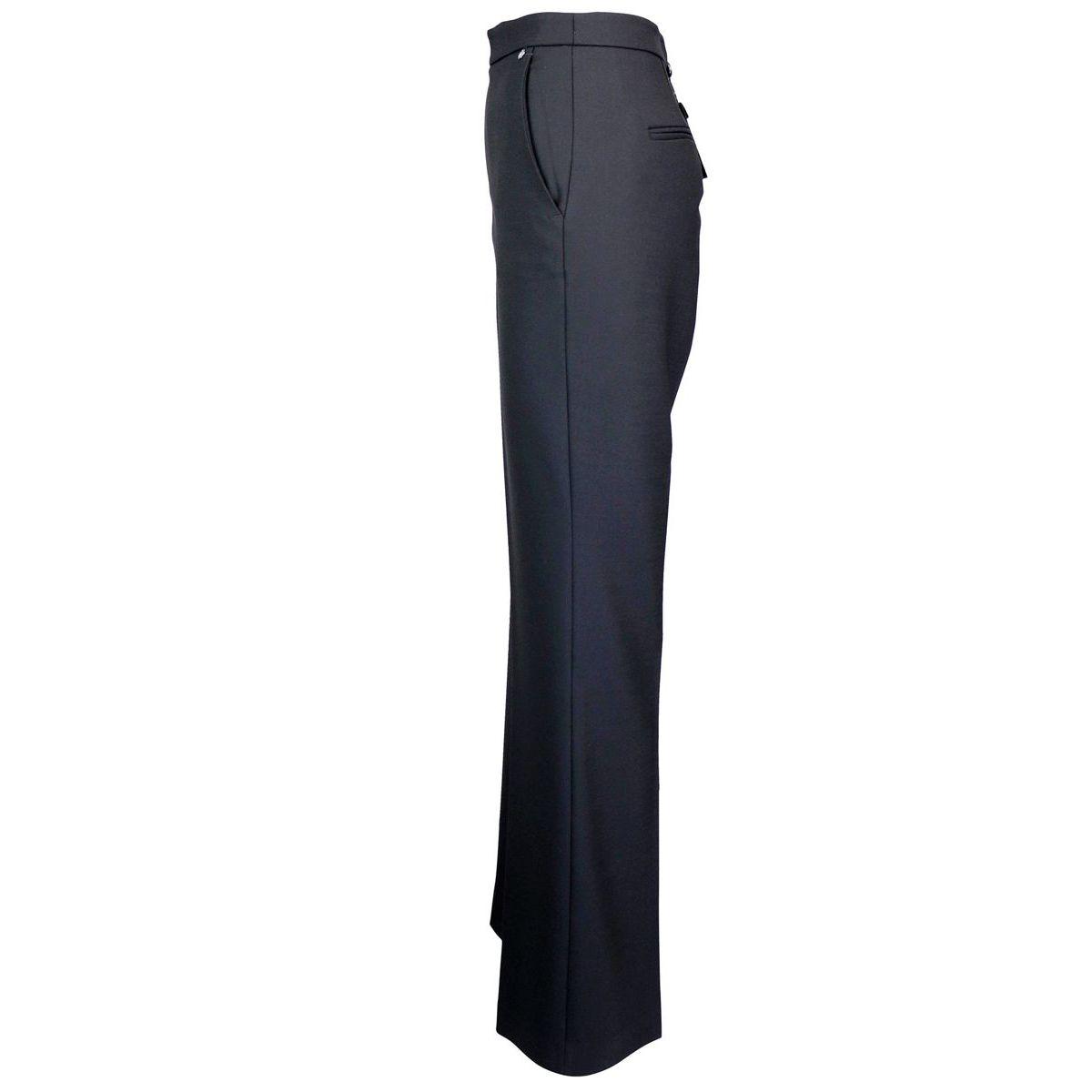 Pantalon large en laine mélangée Noir Twin-Set