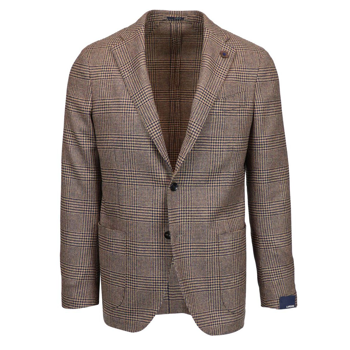 Single-breasted SLIM wool jacket Camel Lardini