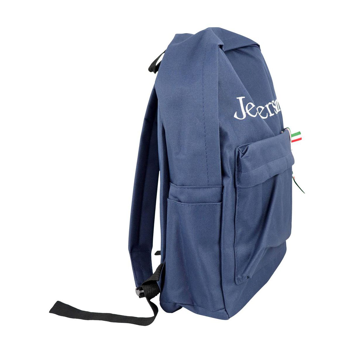 Backpack with front logo and Italian flag Blue Jeckerson