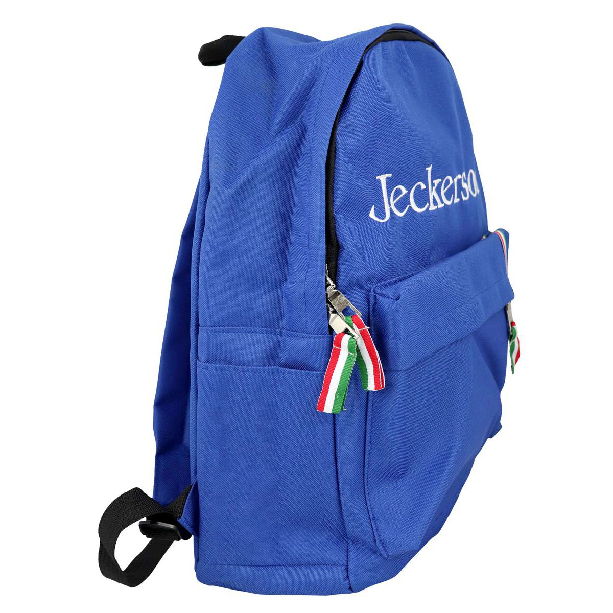 Backpack with front logo and Italian flag Bluette Jeckerson