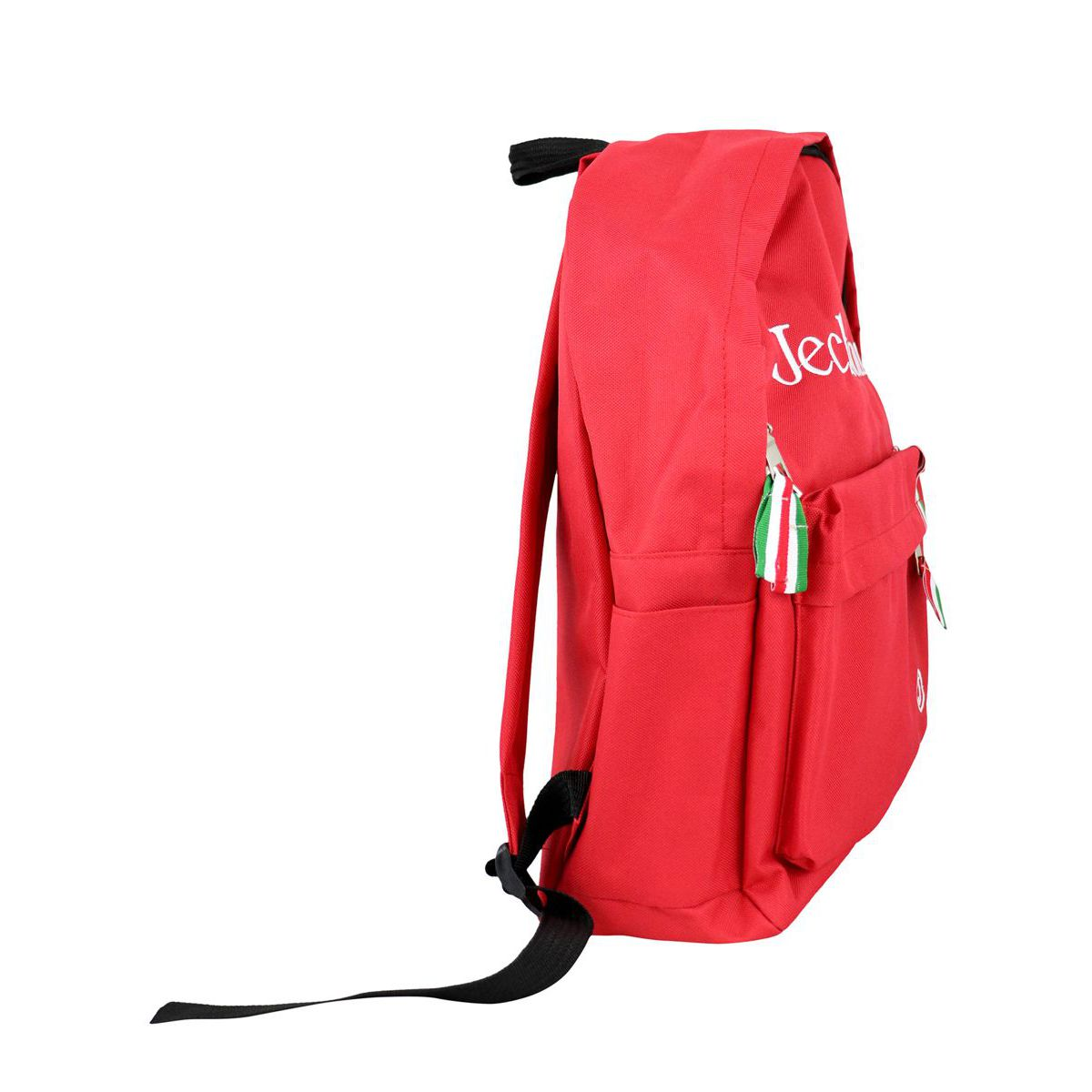 Backpack with front logo and Italian flag Red Jeckerson