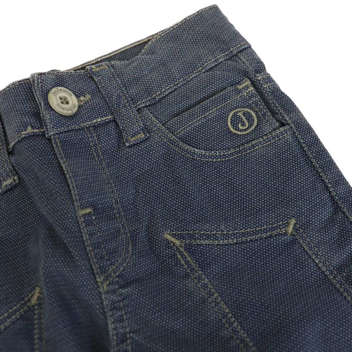 Slim cotton jeans with patches Blue Jeckerson