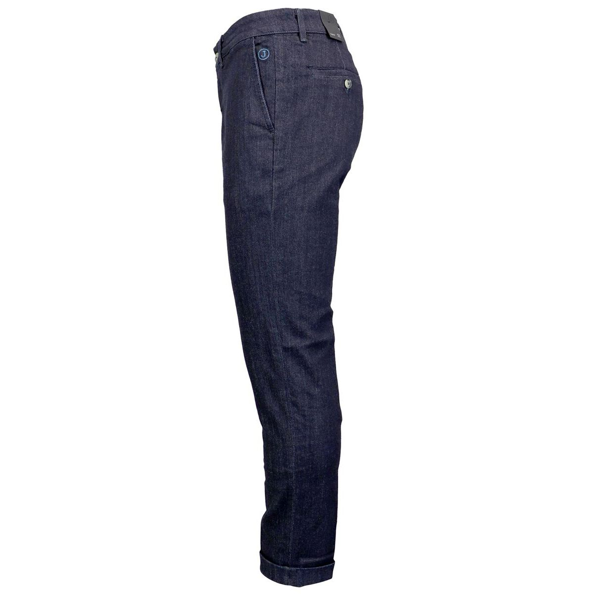 Stretch cotton jeans with america pockets Dark denim Jeckerson