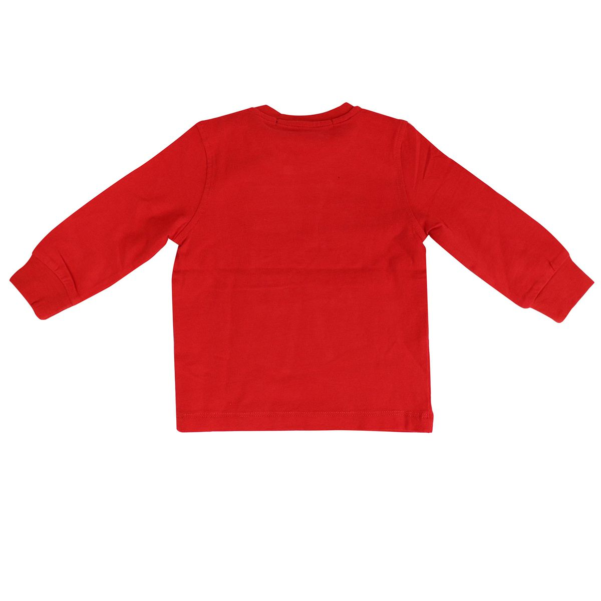 Crewneck sweatshirt in cotton with contrasting logo embroidery Red Jeckerson