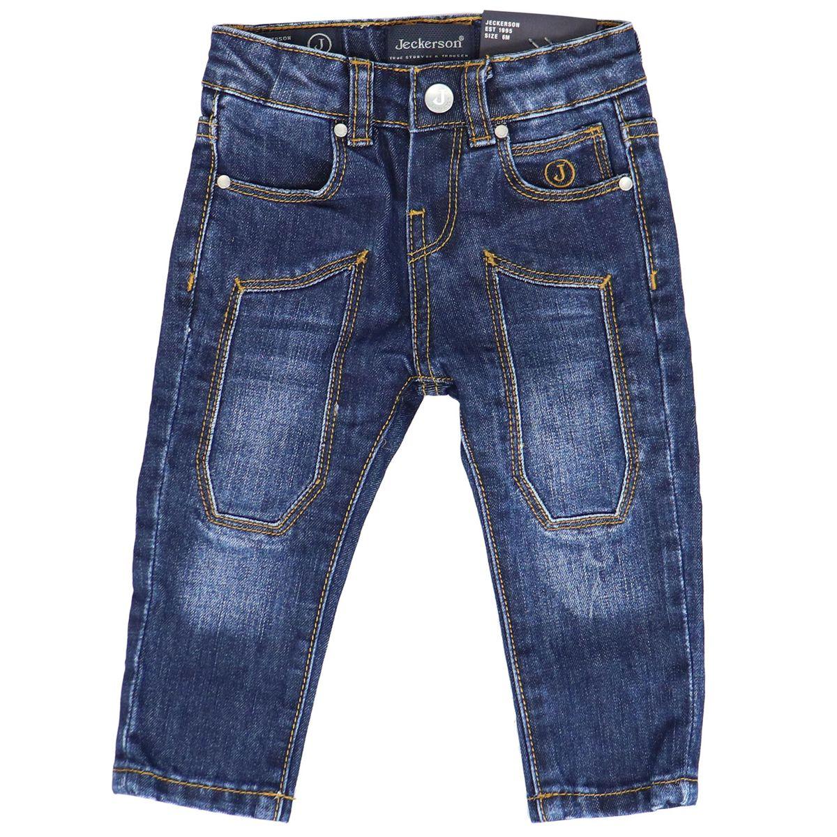 Slim jeans 5 pockets model with patches Dark denim Jeckerson