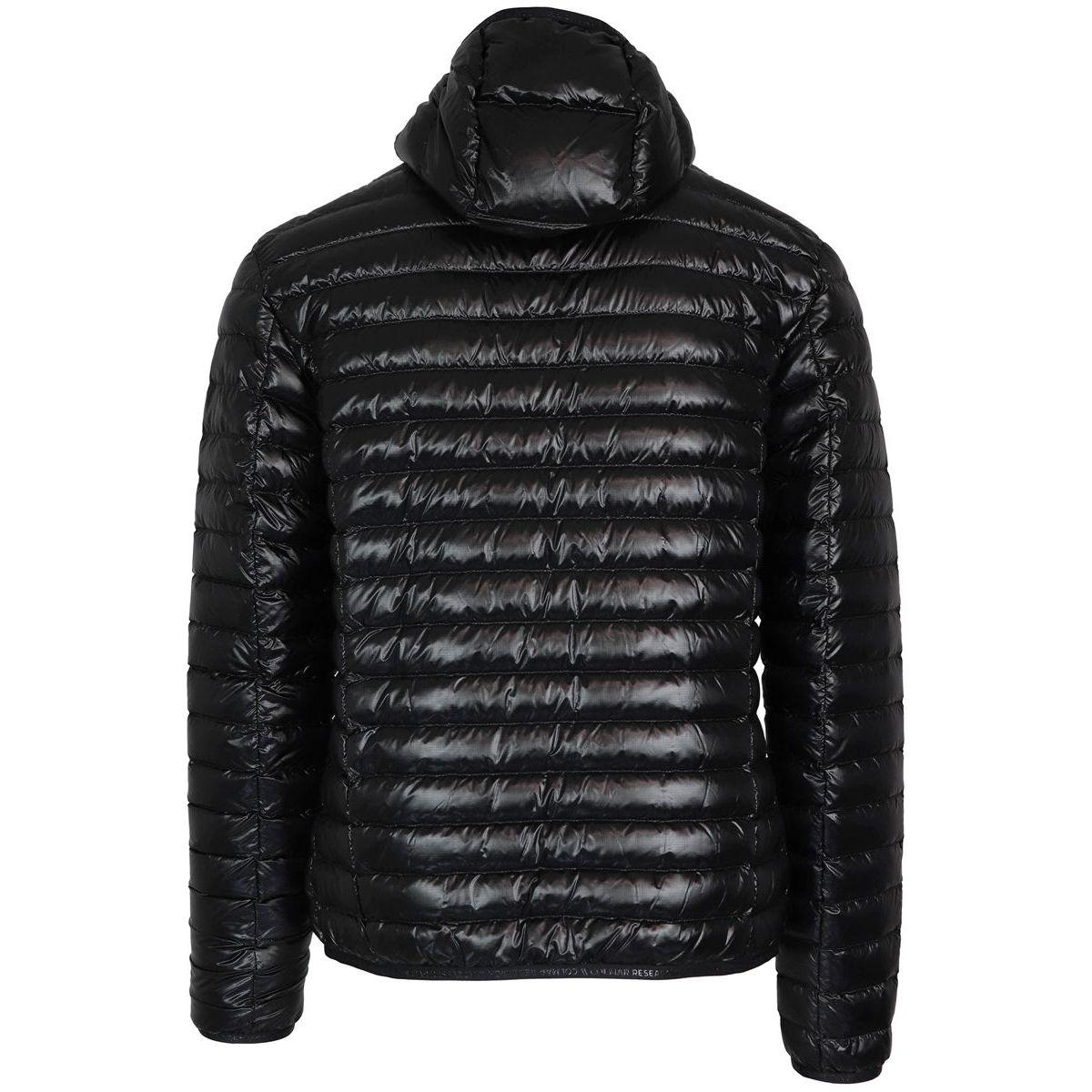 Short polyamide jacket with hood Black Colmar