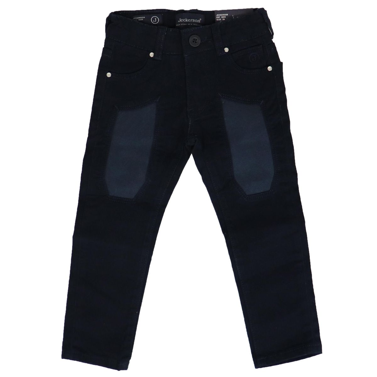 Slim cotton trousers with contrasting patches Blue Jeckerson