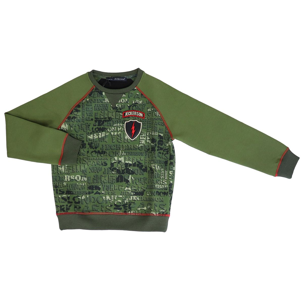 Sweatshirt with camouflage effect print Green Jeckerson