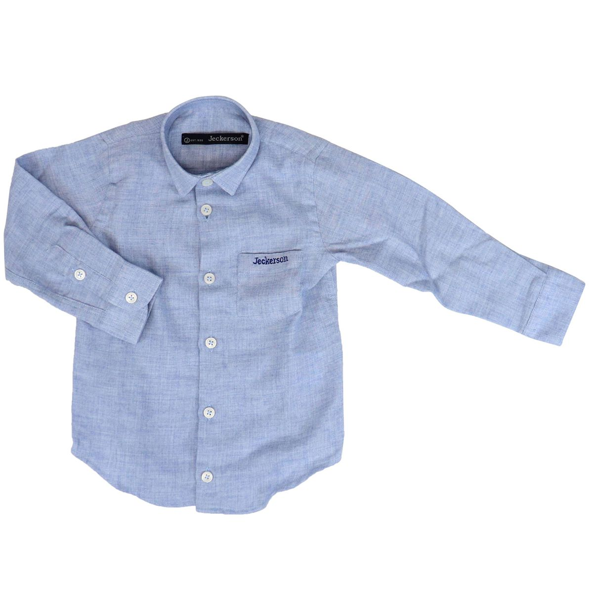 Wool blend shirt with embroidered logo Heavenly Jeckerson