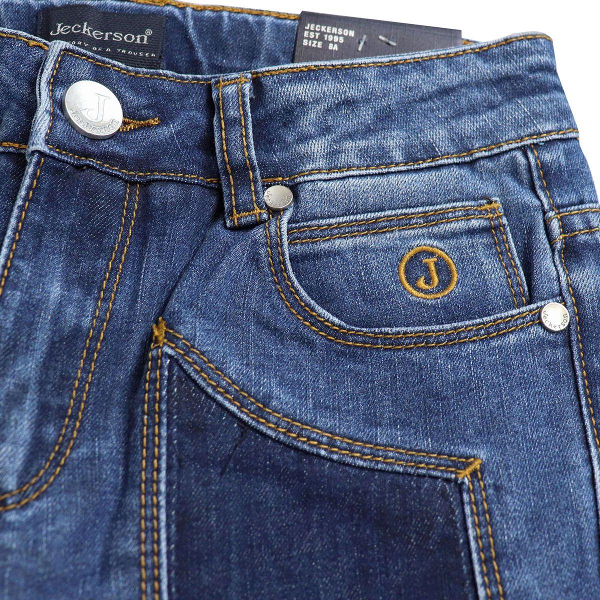5-pocket jeans with contrasting dark denim patches Light denim Jeckerson